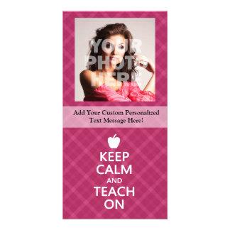 Houd Kalm en onderwijs, Roze Plaid Persoonlijke Fotokaarten