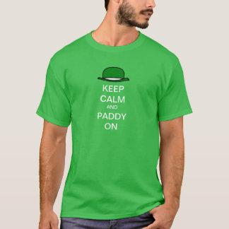 Houd Kalm en Padie op het Pet van de Derby T Shirt