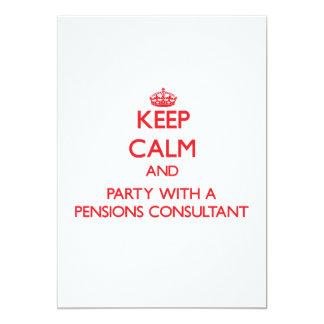 Houd Kalm en Partij met een Adviseur van 12,7x17,8 Uitnodiging Kaart