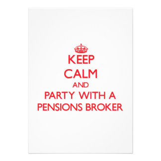 Houd Kalm en Partij met een Makelaar van Pensioene Persoonlijke Uitnodigingen