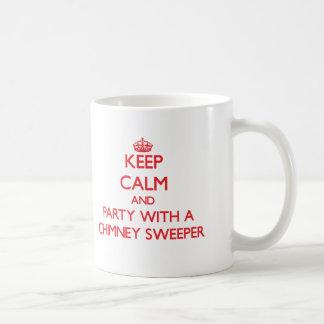 Houd Kalm en Partij met een Schoorsteenveger Koffiemok