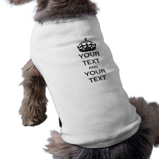 Houd Kalm en pas aan Mouwloos Hondenshirt