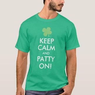 Houd Kalm en Pasteitje, Grappige St. Patricks Dag T Shirt