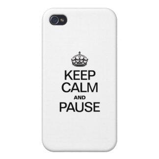 HOUD KALM EN PAUZE iPhone 4 COVER