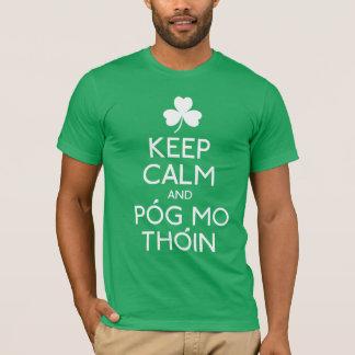 Houd Kalm en Pog Mo Thoin - Ierse Humor Tshirt