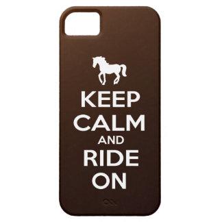 Houd Kalm en Rit Barely There iPhone 5 Hoesje