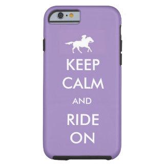 houd kalm en rit tough iPhone 6 hoesje