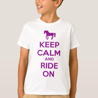 Houd Kalm en Rit T Shirt