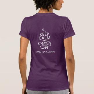 Houd Kalm en roep een Schoonmaakster T Shirt