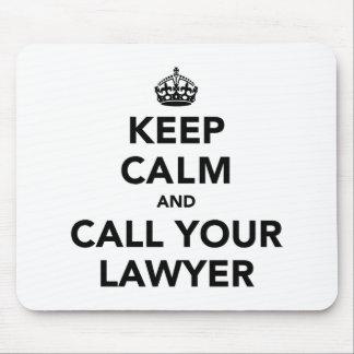 Houd Kalm en roep Uw Advocaat Muismat