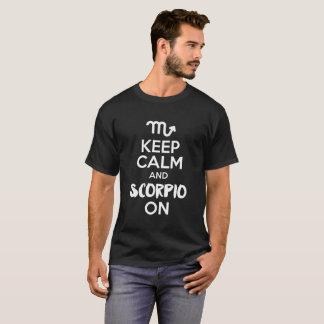 Houd Kalm en Schorpioen op Grappige Verjaardag T Shirt