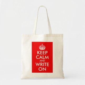 Houd Kalm en schrijf Draagtas