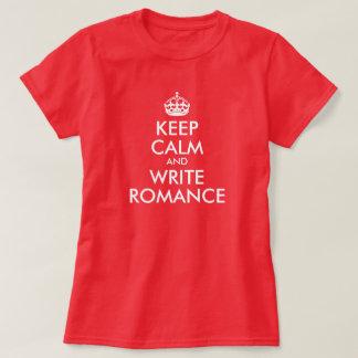 Houd Kalm en schrijf Romance T Shirt