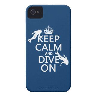 Houd Kalm en (scuba-uitrusting) duik (in om het iPhone 4 Hoesje