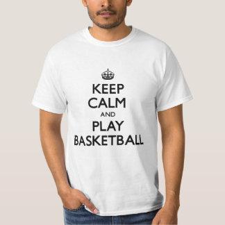 Houd Kalm en speel Basketbal (draag) T Shirt