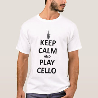 Houd kalm en speel cello t shirt