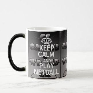 Houd Kalm en speel de Posities van het Netball van Magische Mok