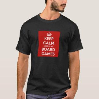 Houd Kalm en speel de Spelen van de Raad T Shirt