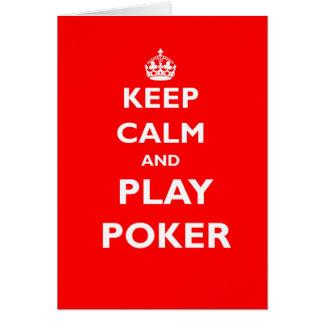 houd kalm en speel het Britse casino van het pooks Wenskaart