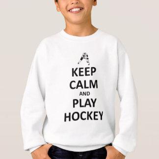 Houd kalm en speel hockey trui