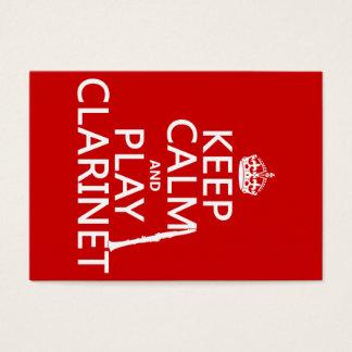 Houd Kalm en speel Klarinet (om het even welke Visitekaartjes