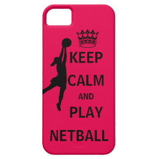 Houd Kalm en speel Netball Barely There iPhone 5 Hoesje