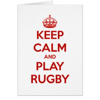 Houd Kalm en speel Rugby Briefkaarten 0