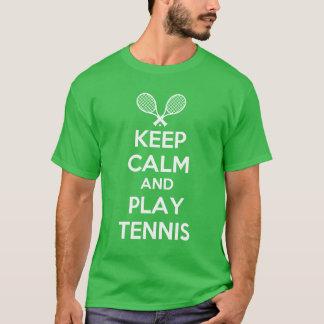 houd kalm en speel tennis t shirt