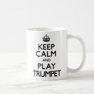 Houd Kalm en speel Trompet (draag) Koffiemok