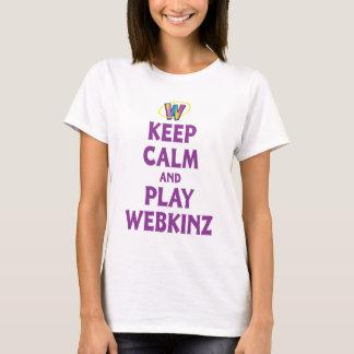 Houd Kalm en speel Webkinz T Shirt