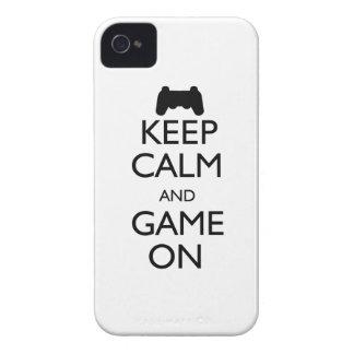 Houd Kalm en Spel iPhone 4 Cases