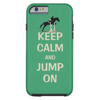 Houd Kalm en Sprong op Paard Tough iPhone 6 Hoesje