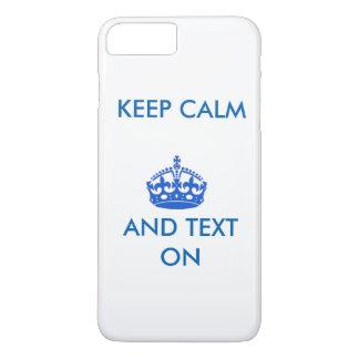 Houd Kalm en Tekst iPhone 7 Plus Hoesje
