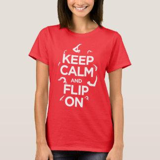 Houd kalm en tik! Het Overhemd van de turner! T Shirt