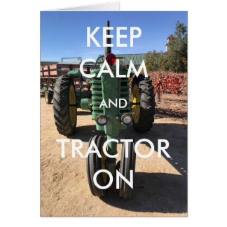 Houd Kalm en Tractor Kaart