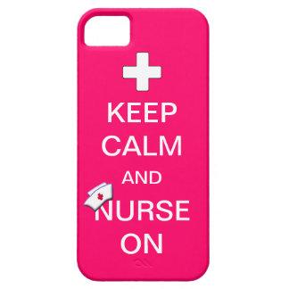 Houd Kalm en Verpleegster bij het Kruis van /White Barely There iPhone 5 Hoesje