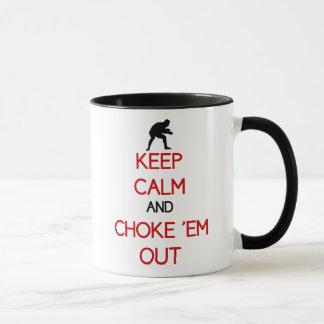 Houd Kalm en versper hen uit koffiemok