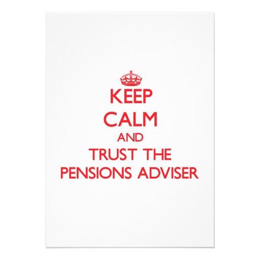 Houd Kalm en vertrouw op de Adviseur van Pensioene Persoonlijke Uitnodiging