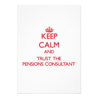Houd Kalm en vertrouw op de Adviseur van Pensioene Persoonlijke Aankondigingen