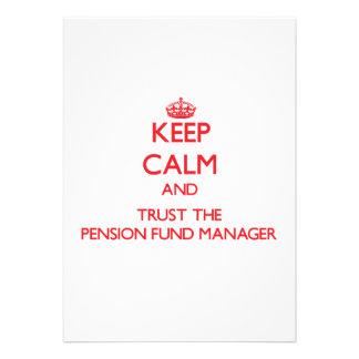 Houd Kalm en vertrouw op de Manager van het Fonds  Uitnodigingen
