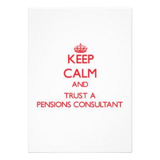 Houd Kalm en vertrouw op een Adviseur van Pensioen Uitnodigingen