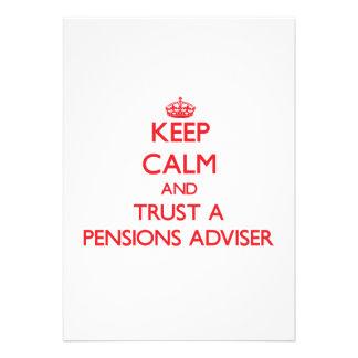 Houd Kalm en vertrouw op een Adviseur van Pensioen Persoonlijke Uitnodiging