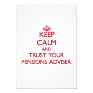 Houd Kalm en vertrouw op uw Adviseur van Pensioene