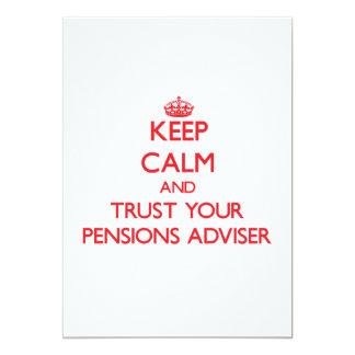 Houd Kalm en vertrouw op uw Adviseur van Pensioene Aankondiging