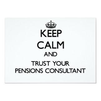 Houd Kalm en vertrouw op Uw Adviseur van Gepersonaliseerde Uitnodigingen