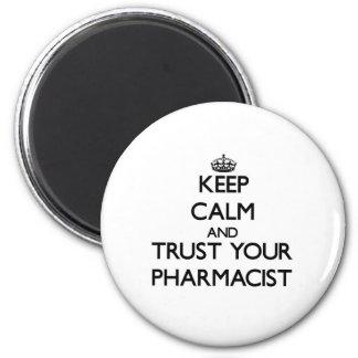Houd Kalm en vertrouw op Uw Apotheker Magneet