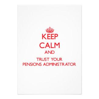 Houd Kalm en vertrouw op uw Beheerder van Pensioen