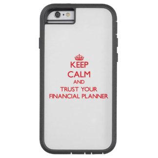 Houd Kalm en vertrouw op uw Financiële Ontwerper Tough Xtreme iPhone 6 Hoesje