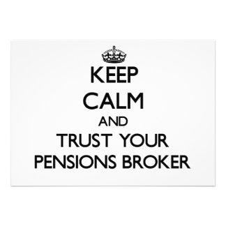 Houd Kalm en vertrouw op Uw Makelaar van Pensioene