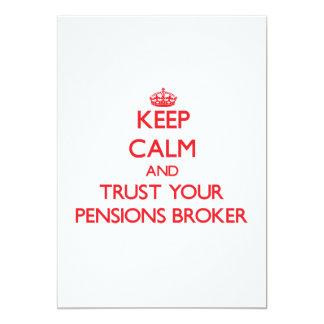 Houd Kalm en vertrouw op uw Makelaar van Pensioene Persoonlijke Aankondiging